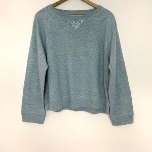 Allen Allen Gray Gem Long Sleeve Sweatshirt